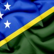 Solomon islands waving flag — Stock Photo