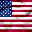 United States of America waving flag — Stock Photo