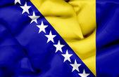 Bosnia and Herzegovina waving flag — Stock Photo