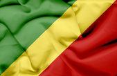 Congo Republic waving flag — Stock Photo