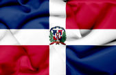 Dominican Republic waving flag — Stock Photo
