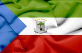 Equatorial Guinea waving flag — Stock Photo