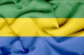 Gabon waving flag — Stock Photo
