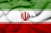 Iran waving flag — Stock Photo