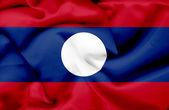 Laos waving flag — Stock Photo