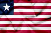 Liberia waving flag — Stock Photo