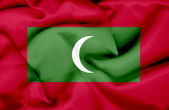 Maldives waving flag — Stock Photo