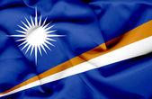 马绍尔群岛挥旗 — 图库照片