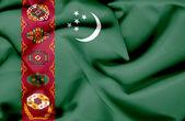Turkmenistan waving flag — Stock Photo