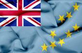 Tuvalu waving flag — Stock Photo