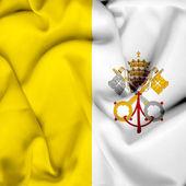 Vatican waving flag — Stock Photo