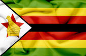 Zimbabwe waving flag — Stock Photo