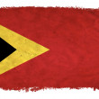 Stock Photo: East Timor grunge flag