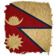 Stock Photo: Nepal grunge flag