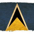 Stockfoto: Saint Lucigrunge flag