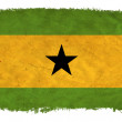 Stock Photo: Sao Tome and Principe grunge flag