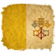 Vatican grunge flag — Stock Photo