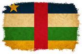 中非共和国 grunge 旗 — 图库照片