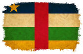 Centraal-afrikaanse republiek grunge vlag — Stockfoto