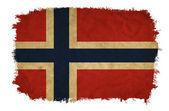 Norway grunge flag — Stock Photo