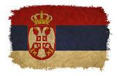 Serbia grunge flag — Stock Photo