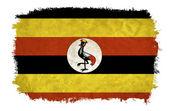 Uganda grunge flag — Stock Photo