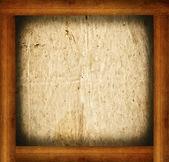 Cadre en bois avec remplissage de papier isolé sur blanc — Photo