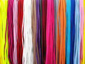 Shoelaces colorful background — Stock Photo