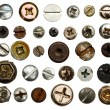 Screws head collection — Stock Photo