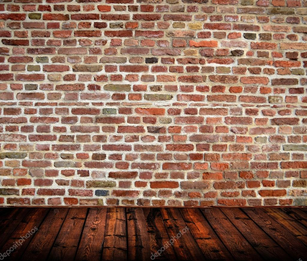 Empty Room Interior With Brickwall And Wooden Floor Stock Photo Alexis84 19661505