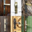 Stock Photo: Antique door handles collage