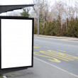 Blank billboard at the bus stop — Stock Photo #19891271