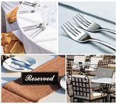 Restaurant collage — Stock Photo