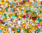 Multicolored crystals background — Stok fotoğraf