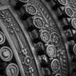 Stock Photo: Antique cash register macro shot in bw