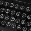 Antique typewriter keybaord closeup — Stock Photo