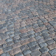Stock Photo: Cobbled road background