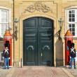 Постер, плакат: COPENHAGEN DENMARK FEBRUARY 27 : Royal guards at Amalienborg