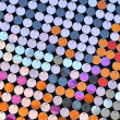 Multicolred sequin texture — Stock Photo