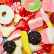 Mixed colorful candies background — Stock Photo #22198387