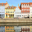 Nyhavn in Copenhagen Denmark - Famous tourist attraction — Stock Photo #22198511