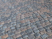 Cobbled road background — Stock Photo