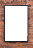 Outdoor vazio na parede de tijolo — Fotografia Stock