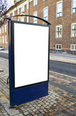 Empty billboard in city center — Stockfoto