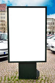 Empty billboard with blank space for your commercial — Stock Photo