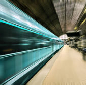 Fast train in motion blur — Stock Photo