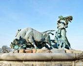 Gefion Fountain Copenhagen - Denmark — Stock Photo