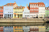 Nyhavn in Copenhagen Denmark - Famous tourist attraction — Foto de Stock