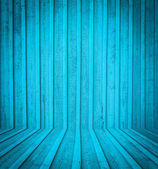 Blue wooden room interior — Stock Photo