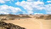 砂の砂漠、砂丘 — ストック写真